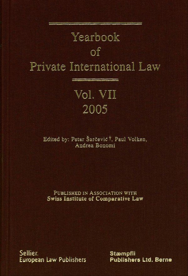 Yearbook On Private International Law, Vol. VII | ISDC